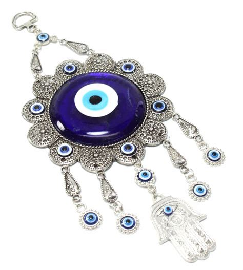 evil eye home decor turkish blue evil eye flower hamsa hand amulet wall