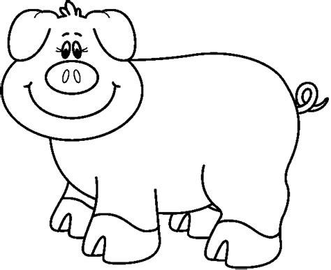 pig clipart black and white black and white pig clipart