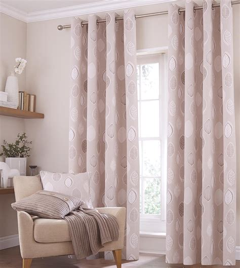 grey curtains 90x90 skandi leaves eyelet ring top curtains and or cushion