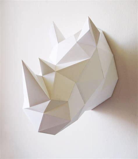 Paper Folding Items - paper rhino folding kit by assemblishop on etsy