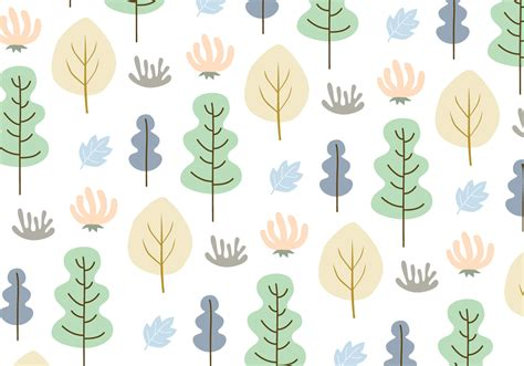 svg tree pattern leaves and trees pattern background vector download free