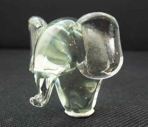 Handmade Glassware - other glassware handmade glass elephant presumably