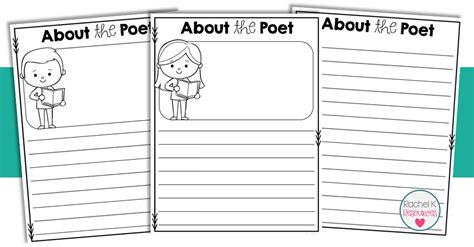 poetry booklet template poetry book template k tutoring