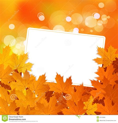 greeting card background templates vector autumn background with greeting card stock vector