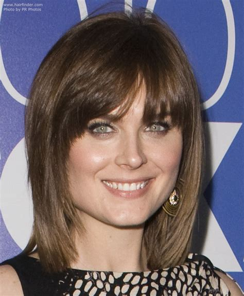 neck length hairstyles with bangs layered and tapered neck length haircut long hairstyles
