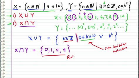 math symbols for union and intersection and and discrete math union and intersect of two sets exle