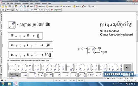 convert pdf to word khmer unicode introduction and keyboard layout of khmer unicode nida