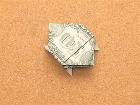 Origami Turtle Dollar Bill - how to make a turtle out of a dollar bill 14 steps