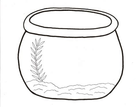 free printable fish bowl template fish bowl outline cliparts co