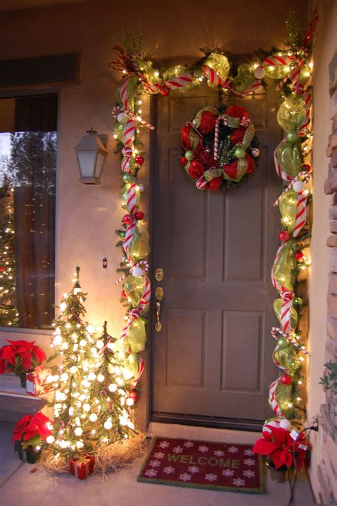 front door holiday decorations simple    great