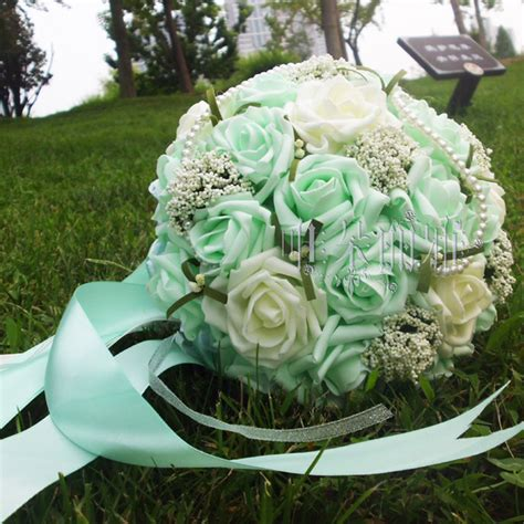 Handmade Bouquets Wedding - 2016 in stock wedding bridesmaid pearls