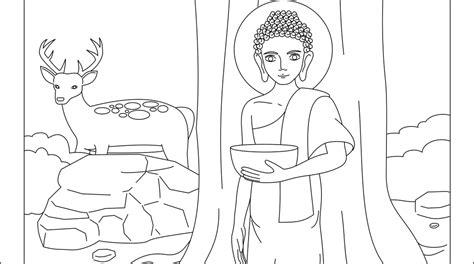 ipgabi mewarnai gambar buddha untuk kelas 1 3 sd