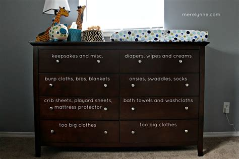 How To Organize Baby Dresser Drawers by Our Organized Baby Dresser Merelynne