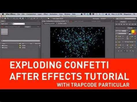 after effects news tutorial exploding confetti with particular in after effects