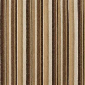 brown and beige striped woven upholstery fabric by the yard