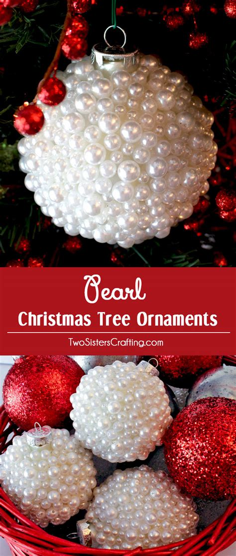 pearl christmas tree ornaments  sisters
