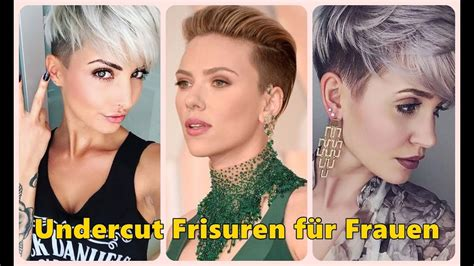 undercut frisuren fuer frauen youtube