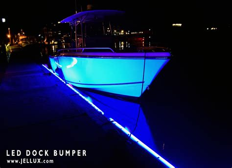 led boat bumper lights 4x 6 led dock bumper tri color kit jellux