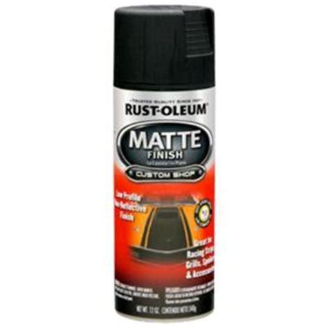 rust oleum automotive  oz black matte finish spray