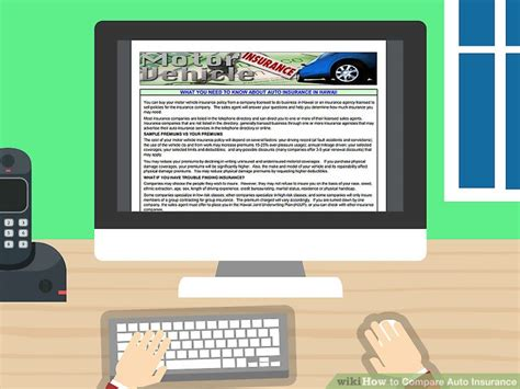 Compare Auto Insurance by 4 Ways To Compare Auto Insurance Wikihow