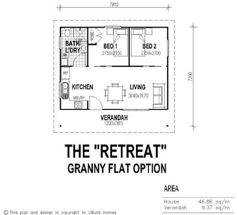 1 bedroom guest house plans tiny house single floor plans 2 bedrooms ubuild designs