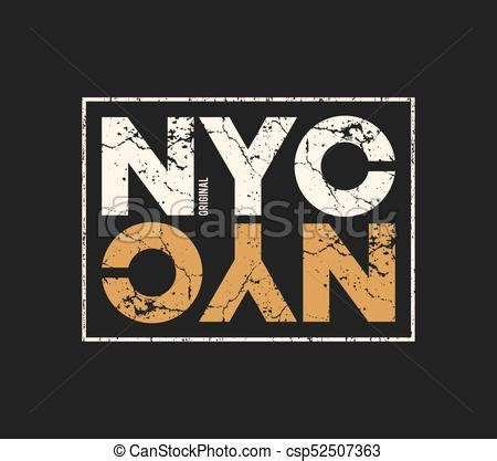 Nyc Original by Nyc Original T Shirt And Apparel Design With Grunge Effect