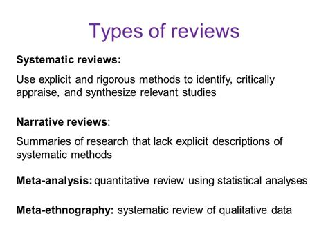 Meta Analysis Vs Review Of Literature by Systematic Literature Review Ppt