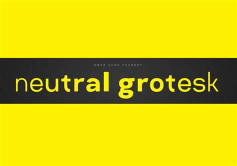 Neutral Grotesk Font Family Befonts Com