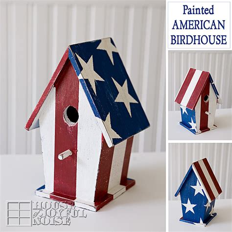 painted american birdhouse tutorial
