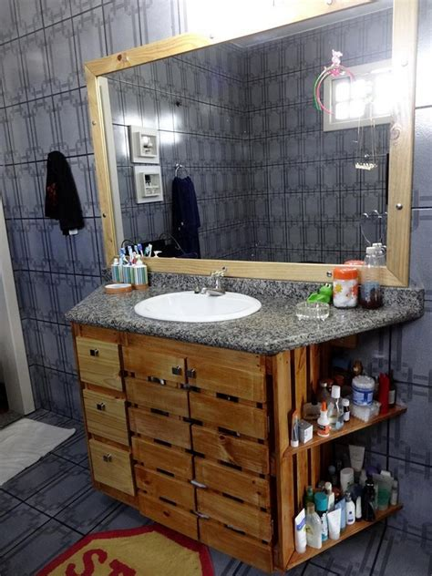 pallet bathroom vanity creative ideas and ways to recycle and reuse wooden