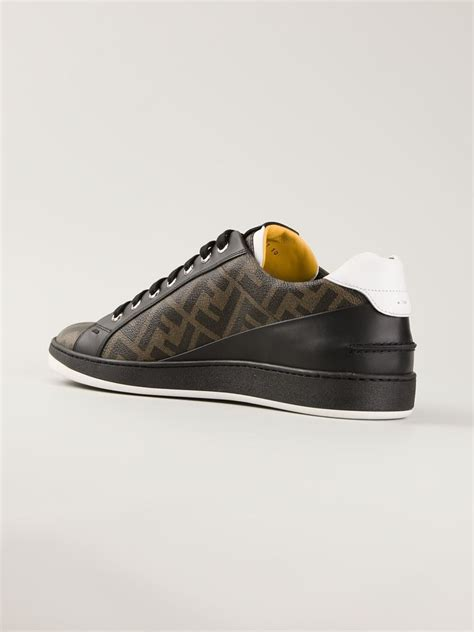 fendi sneakers fendi wimbledon sneakers in brown for lyst