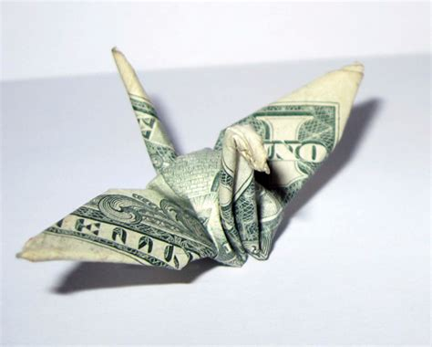 Dollar Bill Origami Crane - money origami crane tutorial origami handmade
