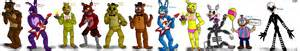 Fnaf characters 1 3 by shimazun on deviantart