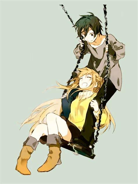 anime swing sao kirito and asuna swing by orangealaid on deviantart