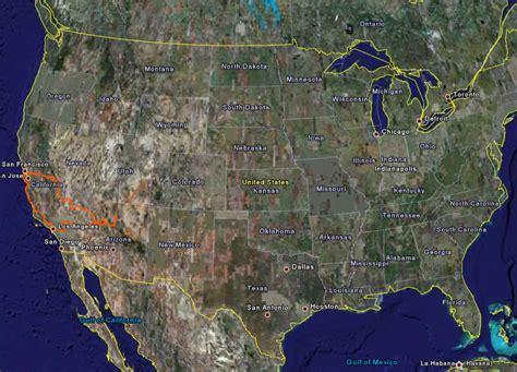 california map earth california map earth