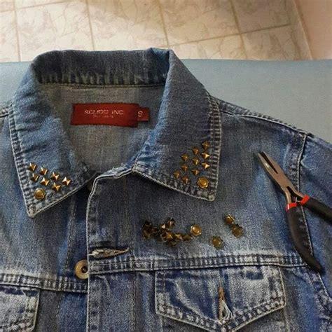 decorar ropa con tachas cera de jean reciclada con tachas moda pinterest