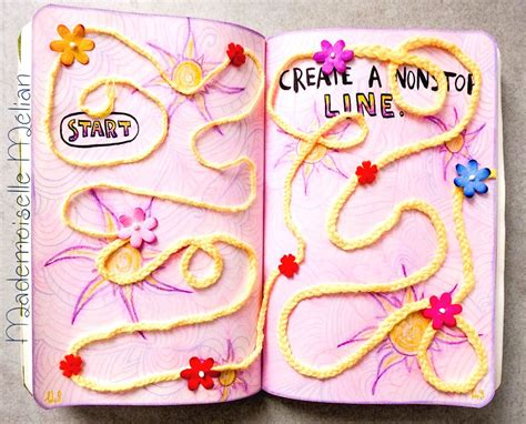 theme line rapunzel wreck this journal saccage ce carnet page 148 149