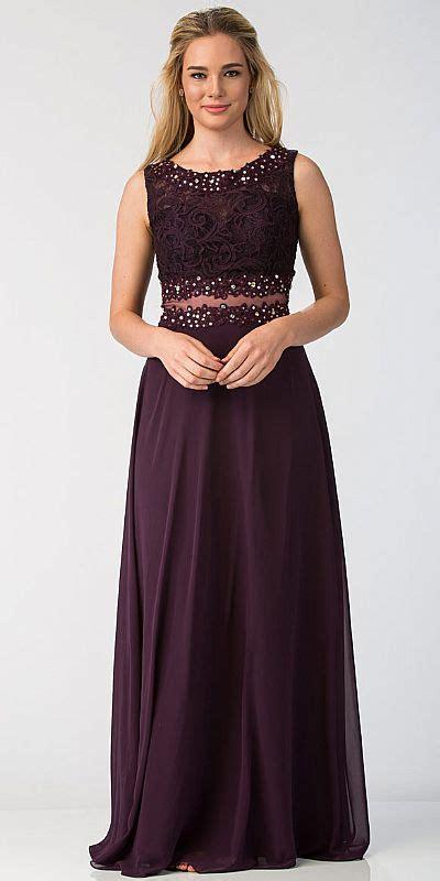 Mock Two Lace Dress mock two lace bodice floor length prom dress sl6194
