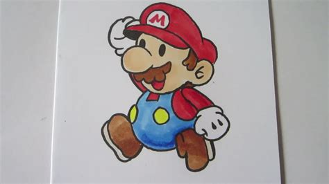 How To Make Paper Mario - how to draw paper mario mario real time マリオ
