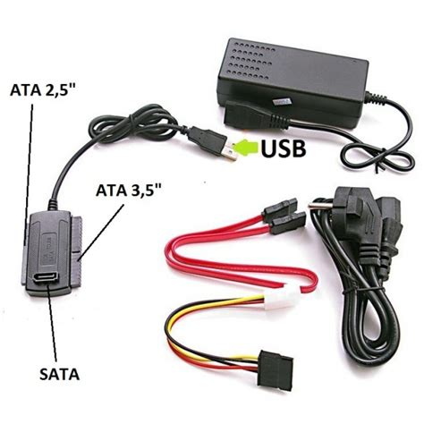 Converter Sata Ata To Usb techbyte usb to ide sata serial ata adapter cable set ebay