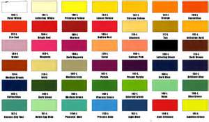 one shot color chart