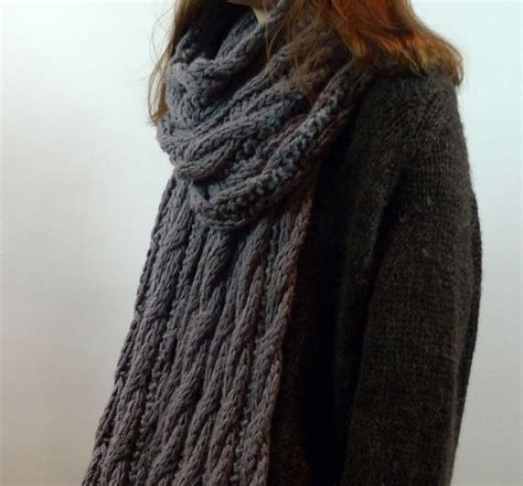 Snowberry Scarf americo original products patterns chunky cable wrap