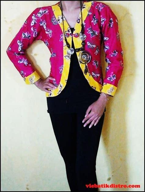 Prita Batik Kode B baju batik kerja wanita model blazer pink sadara harga rp 85 000 kode barang sadara lingkar