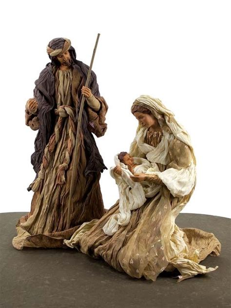 large fabric nativity set nativity pinterest