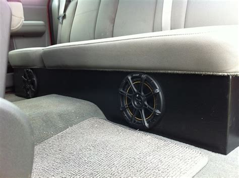 truck speakers seat custom enclosure the back seats of my scab that