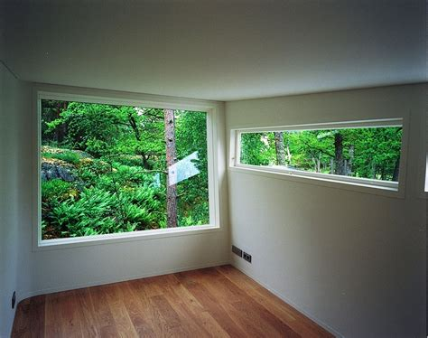 contemporary window trim low impact no waste swedish house built using