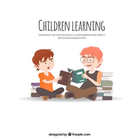 education reading educational background with students reading vector free