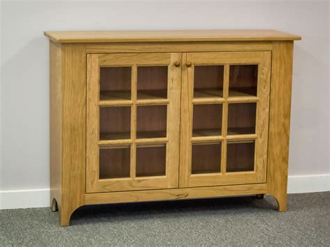 Shaker Furniture Of Maine 187 Cherry Hall Cabinet With Hallway Cabinet Doors