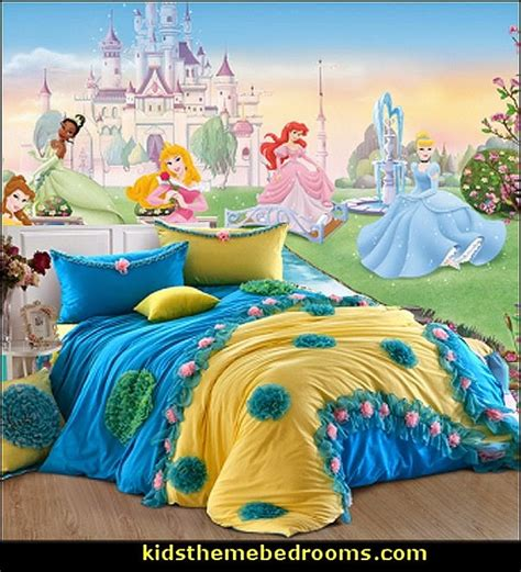 Disney Fairies Wall Mural decorating theme bedrooms maries manor castle bed