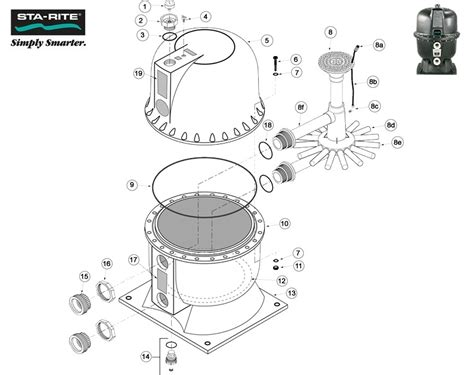 sta rite diagram sta rite starite hrpb high rate sand filter hrpb20 hrpb24
